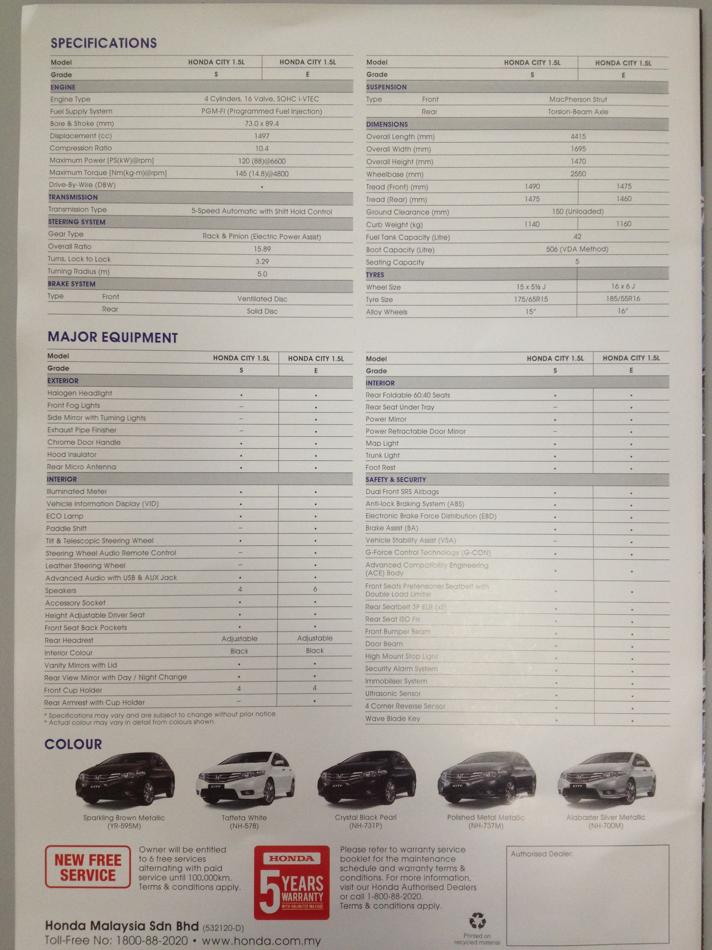New Honda City 2012 – Brochures  My Best Car Dealer