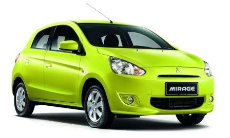 Mitsubishi Mirage yellow