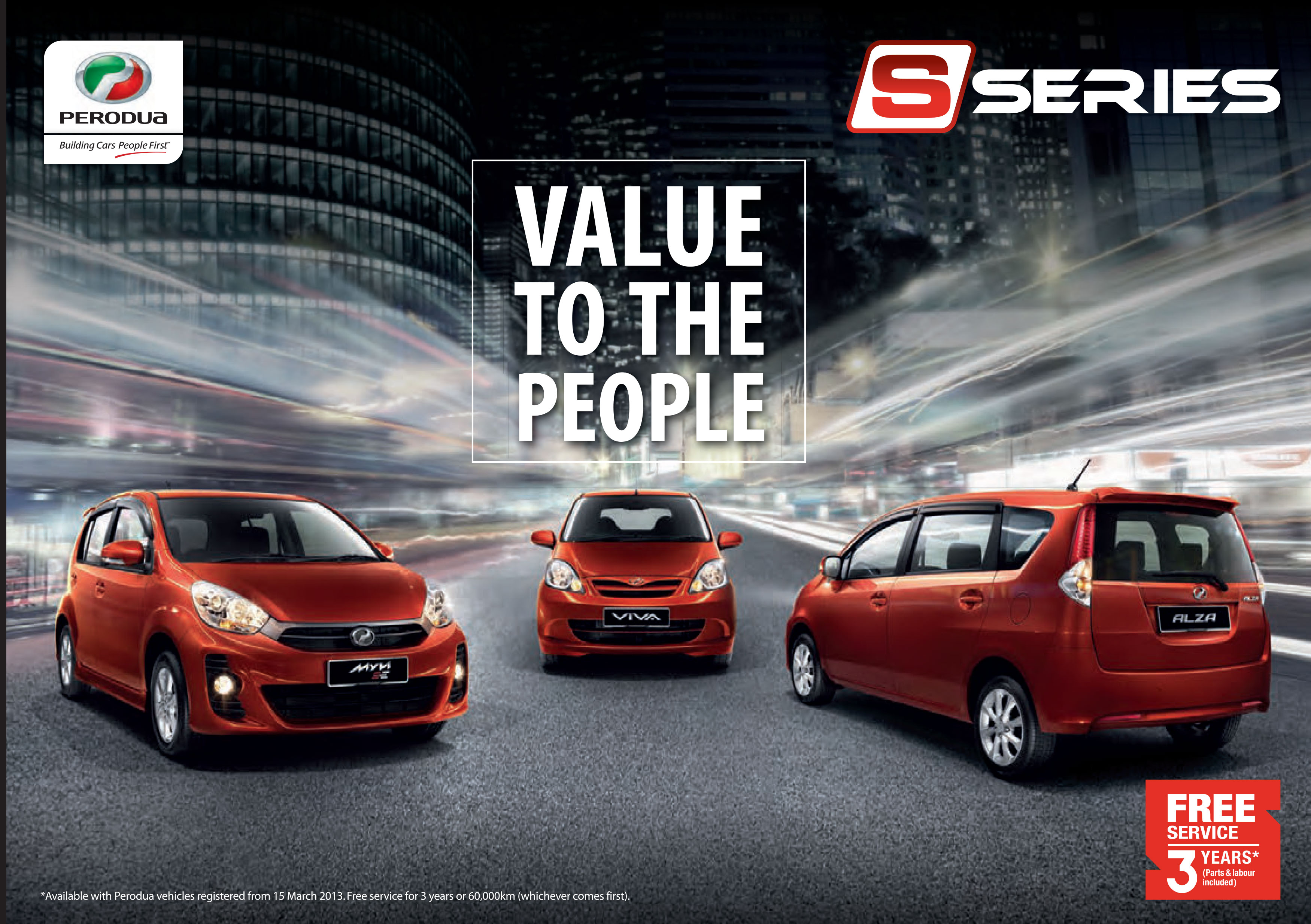 Perodua myvi s series promotional giveaways