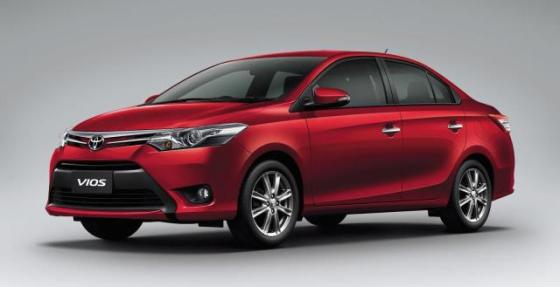 Toyota Vios based on the estimated price shown in Toyota Official